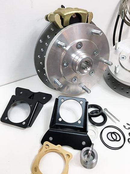 Air Cooled Vw Brake Lines : Classic vw bus rear disc brake conversion kit