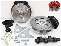 Classic VW Front Disc Brake Conversion Kit - 4150 - Include Install Kit - 5x130mm Porsche - Titanium Grey Wilwood 2 Piston